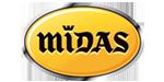 Logo rivenditore di pneumatici Midas