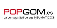 Logo vendedor de neumáticos Popgom