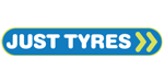 Just Tyres tyre dealer logo in Bletchley