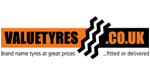 Value Tyres tyre dealer logo in Newcastle upon Tyne